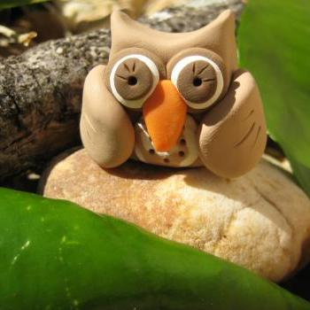 Cookie the Owl - Polymer clay figurine