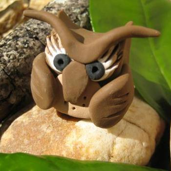 ViVe the Owl - Polymer clay figurine